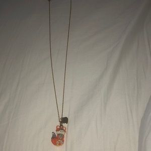 Juicy Couture fox necklace
